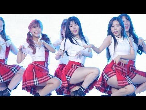 170831 프리스틴 (PRISTIN) 'ALOHA' 시연 4K 직캠 @코엑스 거리응원전 4K Fancam by -wA-