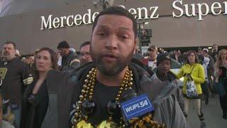 New Orleans Saints fans leave Superdome after NFC championship loss