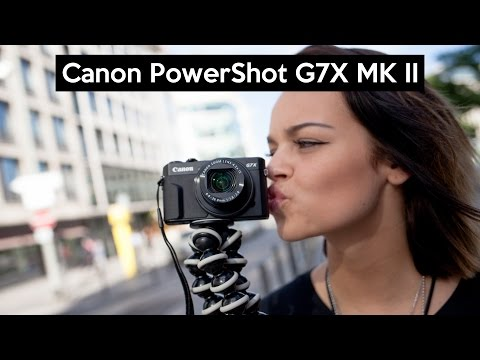 video Canon PowerShot G7 X Mark II Digitalkamera (mit klappbarem Display, 20,1 MP, 4,2-fach optischer Zoom 7,5 cm (3 Zoll) LCD-Display, Touchscreen) schwarz