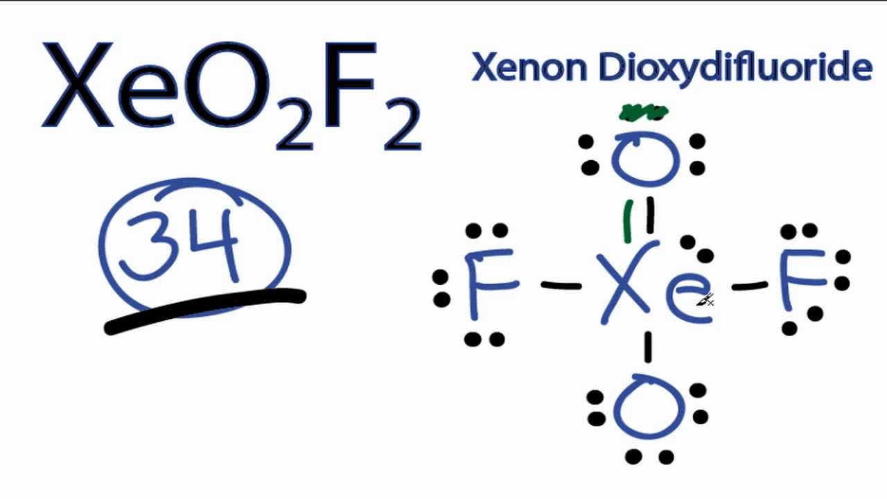 XeO2F2 Lewis Structure - How to Draw the Lewis Structure ... Xeo3 Lewis Structure Geometry