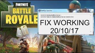 Fortnite - How to fix failed to initialise Battleye Service: Generic Error [Working 20/10/2017]