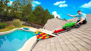 RAMPING 100MPH RC CAR OFF MY ROOF!