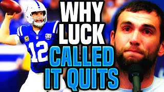 The REAL REASON Why Andrew Luck SHOCKED The World and RETIRED Early From Football