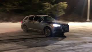 Supercharged Audi Q7 SNOW DRIFTING (With Classical Music)