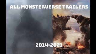 All Monsterverse Trailers (2014-2021)