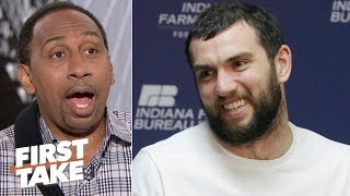 A healthy Andrew Luck will lead the Colts to a Super Bowl run - Stephen A. | First Take