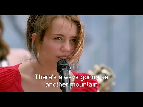 [HD] Miley Cyrus - The Climb (Hannah Montana The Movie) [Lyrics On Screen]
