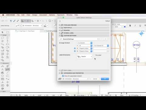 ARCHICAD 20 - Properties in the Identification and Property Label
