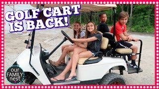 GOLF CART IS BACK & HOME DECOR SHOPPING HAUL!