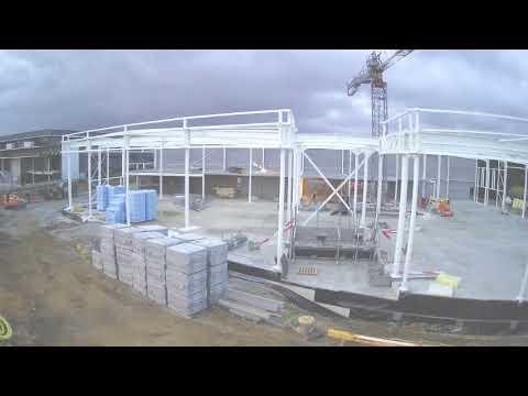 Timelapse video bouw Toyota Lexus Flagship Store Zaventem