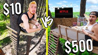 $10 VS $500 TREE HOUSE FORT! *Budget Challenge*