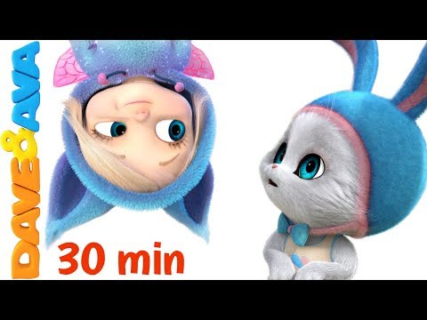 😄 Little Bunny Foo Foo   30 minutes Nursery Rhymes Collection from Dave and Ava 😄