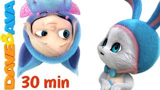 😄 Little Bunny Foo Foo | 30 minutes Nursery Rhymes Collection from Dave and Ava 😄