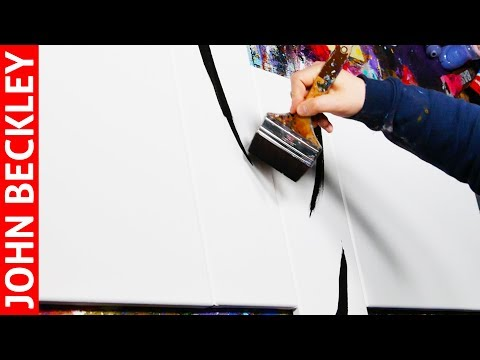 Abstract Art Painting Demonstration With Acrylics  | Asper