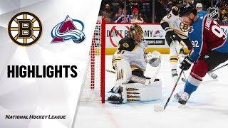 Bruins @ Avalanche 10/10/19 Highlights