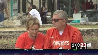 VIDEO: OSU fans head to San Antonio before Alamo Bowl