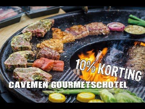 CAVEMEN GOURMETSCHOTEL 10% KORTING!!! | Fire&Food TV