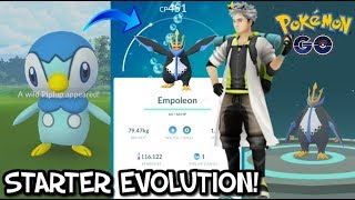 FIRST EVER PIPLUP CATCH & EVOLVE! EMPOLEON BATTLE IN POKEMON GO!