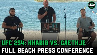 Khabib Nurmagomedov vs. Justin Gaethje | UFC 254 Pre-Fight Press Conference