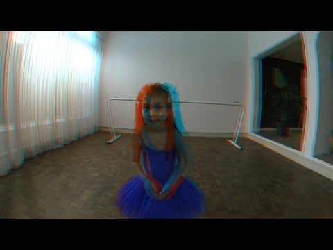 [3D Movie Red Cyan]TwoEyes VR - Little Ballerina Girl by TwoEyes Tech Inc. @TwoEyesTech