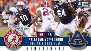 #5 Alabama vs #15 Auburn Highlights: Bama suffers HUGE loss in a wild 2019 Iron Bowl | CBS Sports