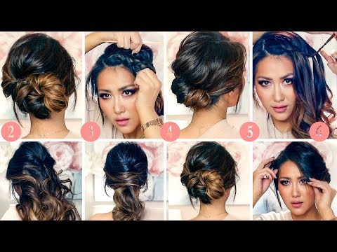 💗 6 BEST RUNNING-LATE HAIRSTYLES & UPDOS Transformation 2018 💗ELEGANT Hairstyle for Medium Long Hair