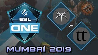 Mineski vs Team Team / Bo3 / Playoffs /  ESL One Mumbai 2019 / Dota 2 Live