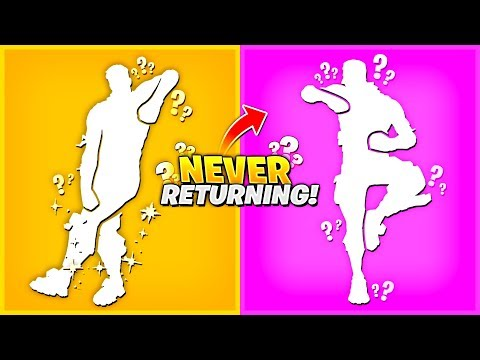 THESE EMOTES have NEVER RETURNED to the ITEM SHOP..! Fortnite Rare Emotes