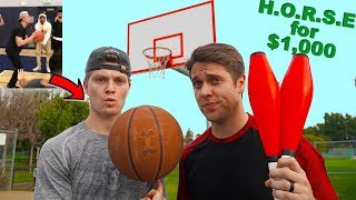 Challenging Ace Family Challenge WINNER To Trick Shot HORSE!