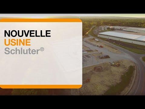 La construciton de la nouvelle usine de production des ciments-colles Schluter®