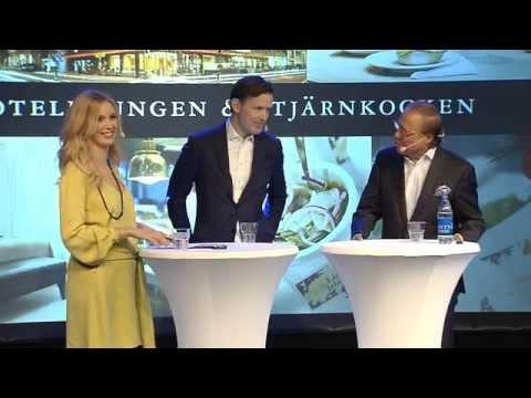 Elite Hotels ägare Bicky Chakraborty och Melker Andersson i spännande diskussion på TUR 2014