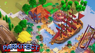 NEW - BEST MULTIPLAYER GAME EVER CREATED - Building Pirate Cove in Parkitect Multiplayer Mode!
