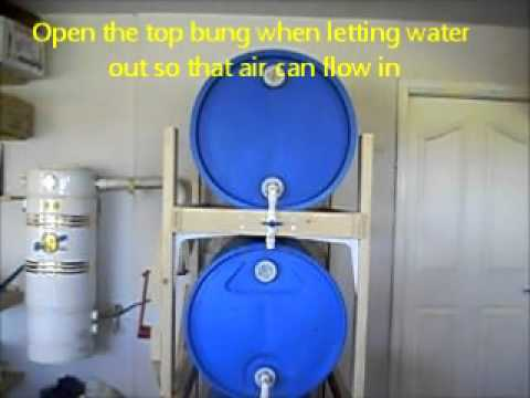3 Tier 55 Gallon Barrel Water Storage System For Home