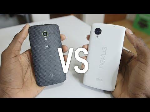 Google Nexus 5 vs Moto X!