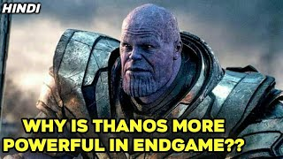 Why is Thanos Stronger in Endgame? / Why is Thanos so powerful in Endgame / In Hindi / Komician