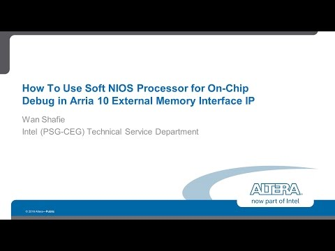Using the Soft NIOS processor to debug Arria 10 External Memory Interfaces