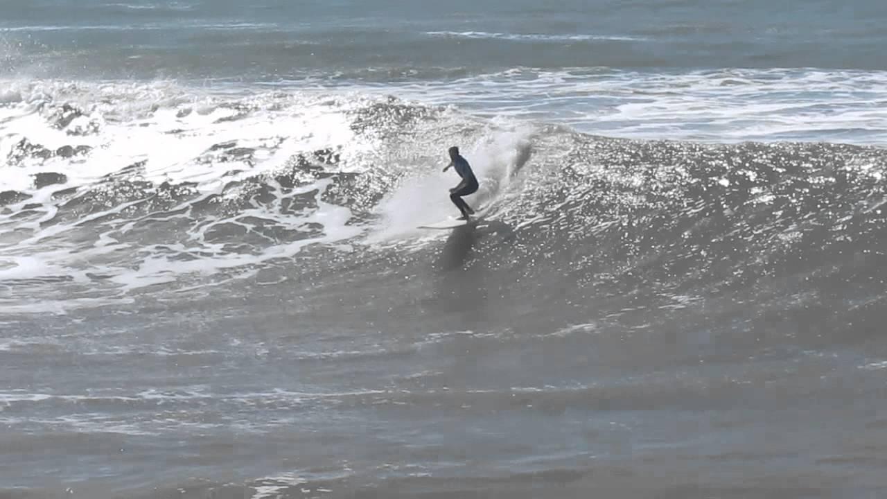 surfing in miramar - 8 foot waves - YouTube