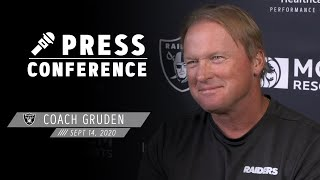 Coach Gruden Credits Depth vs. Panthers, Talks Fixing Mistakes Before Saints | Las Vegas Raiders