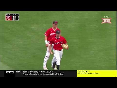 Texas Tech vs. Arkansas NCAA CWS Baseball Highlights