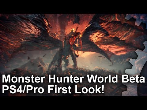 Monster Hunter World Beta PS4 vs PS4 Pro - First Look!