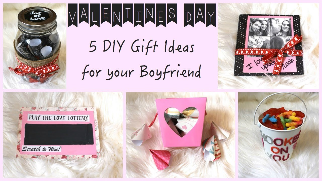 5 Diy Gift Ideas For Your Boyfriend Valentine S Day On