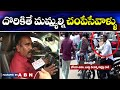 Inside visuals of Buddha Venkanna's Car - Driver face to face