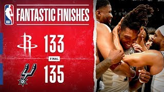 DRAMATIC Double-OT THRILLER In San Antonio between the Rockets & Spurs | Dec. 3, 2019