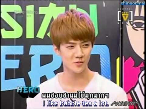 (Eng Sub) EXO-K Sehun speak thai