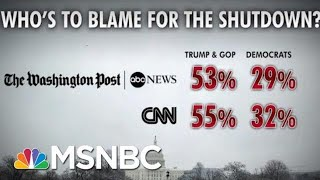Most Americans Blame President Donald Trump, GOP For Shutdown: Polls | Morning Joe | MSNBC