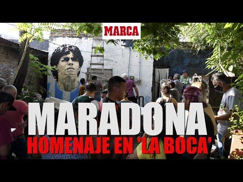 Muere Maradona: los aficionados acuden al barrio de Boca Juniors I DIRECTO MARCA