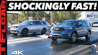 Ford Explorer ST vs Dodge Durango SRT Drag Race - Can a $600 Tune Beat America's Fastest 3-Row SUV?