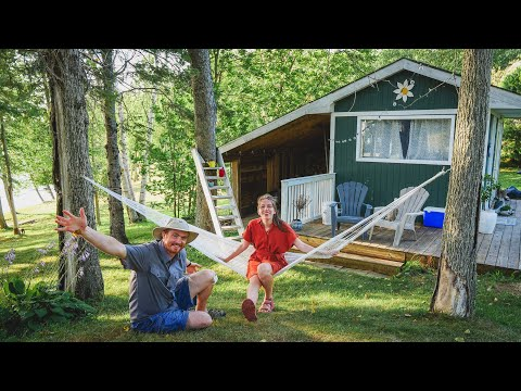 GLAMPING in New Brunswick (TINY HOUSE by the River!) + Visiting KING'S LANDING 👑 (1800's Village)