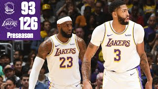 LeBron James and Anthony Davis torch the Warriors | 2019-20 NBA Highlights