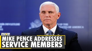 U.S. Vice Prez Mike Pence addresses service members, touted Govt's foreign policy achievements